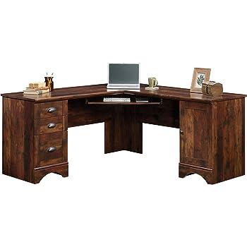 Sauder Harbor View Corner Computer Desk, Curado Cherry finish