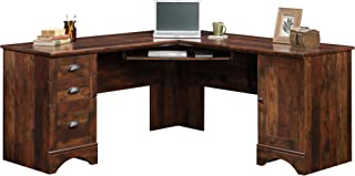 Sauder Harbor View Corner Computer Desk, Curado Cherry finish