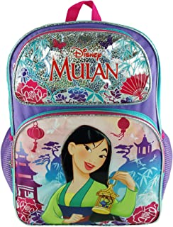 """Disney Princess - Mulan Deluxe 16"""" Full Size Backpack - Pretty and Brave - A19393"""