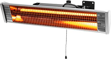 Barton 1500W Electric Patio Heater with Remote Indoor/Outdoor Space Heater Wall Mounted Infrared Heater