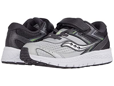 Saucony Kids S-Cohesion 13 A/C (Little Kid/Big Kid) (Grey/Citron Leather/Mesh) Boys Shoes