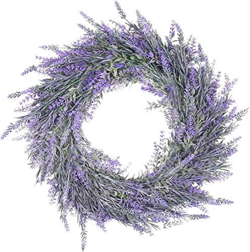"""wholesale Lavender outlet sale Wreath for Front sale Door Artificial Wreath Garland Seasonal Indoor Outdoor Floral Wreath for Wedding Party Home Wall Decor Welcome Wreath Hanging Ornament, 12"""" outlet online sale"""