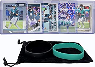 Nick Foles Football Cards (5) Assorted Bundle - Philadelphia Eagles Jacksonville Jaguars Trading Card Gift Set
