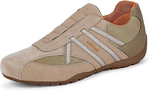 Basura Considerar visión  Geox Men Trainers U RAVEX, Men´s Slip-on, Removable Insole: Amazon.co.uk:  Shoes & Bags