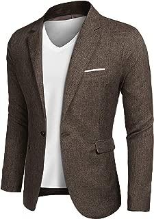 Men's Casual Suit Blazer Jackets Lightweight Sports Coats One Button