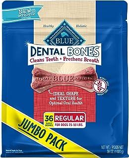Best Blue Buffalo Dental Bones Natural Adult Dental Chew Dog Treats Regular 36-oz bag Super Value Pack Review