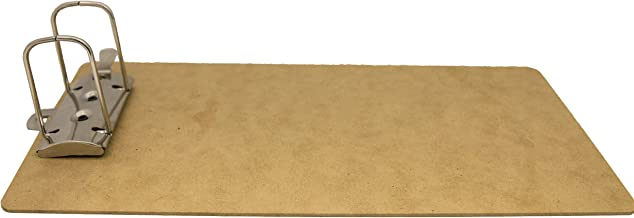 Saunders 05713 Recycled Hardboard Archboard - Brown, Legal Size Document Holder for 2 Hole Punched Documents, Locking Arch Clip