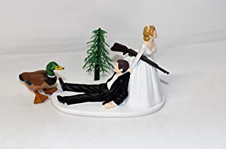 Wedding Party Reception Duck Fowl Hunter Hunting Cake Topper