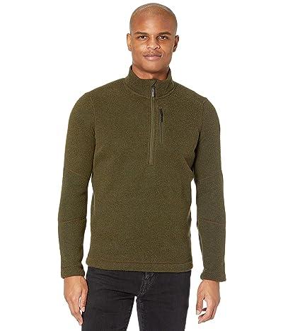 Smartwool Hudson Trail Fleece 1/2 Zip Sweater (Military Olive) Men