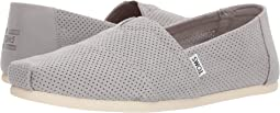 Drizzle Grey Perforated Synthetic Suede