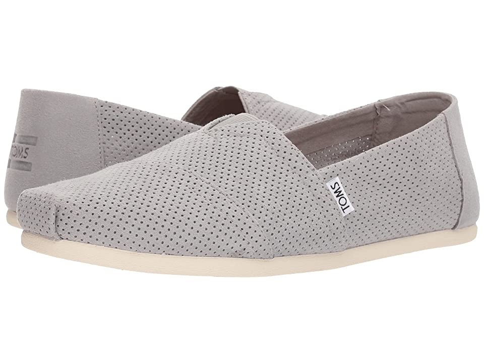 TOMS Seasonal Classics (Drizzle Grey Perforated Synthetic Suede) Men