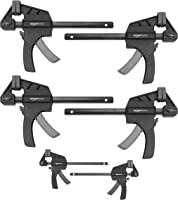 Amazon Basics 6-Piece Trigger Clamp Set - 2 Pieces 4-Inch, 4 Pieces 6-Inch