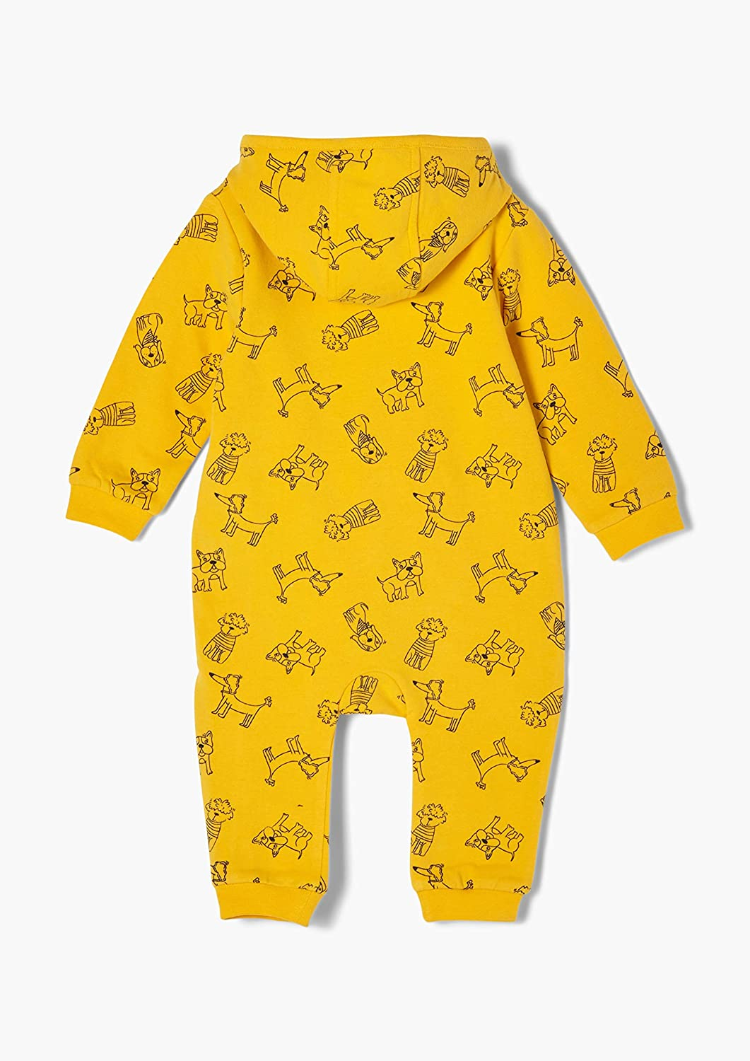 s.Oliver Unisex Baby Jersey-Overall mit Hunde-Motiven