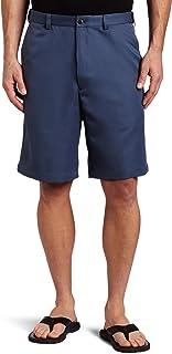 سروال قصير رجالي من Haggar مصنوع من قماش الغبرديني المخفي، قابل للتوسيع، مقاس متوسط من الأمام