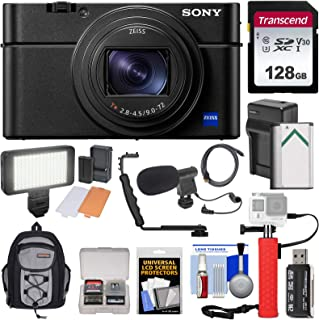 Sony Cyber-Shot DSC-RX100 VII 4K Wi-Fi Digital Camera with 128GB Card + Battery & Charger + Backpack + Hand Grip + Video L...