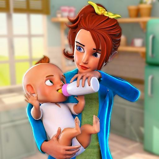 Virtual Babysitter Life Glückliche Familie Mom Simulator 3D: Mutter Baby Kindertagesstätte Abenteuer Spiele für Mädchen kostenlos 2018