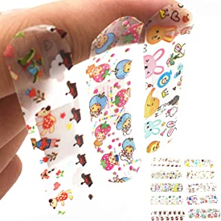 Minibaby Transparent Cartoon Band-Aid Assorted,First Aid Bandage for Girls Kids Protection (Pack of 100)