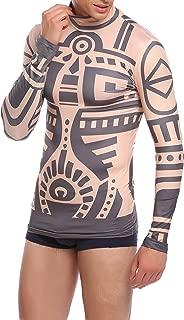 Mens African Tribal Tattoo T-Shirt Halloween Adult Cosplay Costume