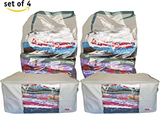 THE USA FACTORY Blanket Storage Bags,Comforter Storage Bags,Under Bed Storage Container,Vacuum Plastic Storage Bags,to Store Pillows,Winter Clothing,Sleeping Bags,Off-Season Clothes,etc.