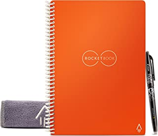 "$32 » Rocketbook Smart Reusable Notebook - Dot-Grid Eco-Friendly Notebook with 1 Pilot Frixion Pen & 1 Microfiber Cloth Included - Beacon Orange Cover, Executive Size (6"" x 8.8"")"
