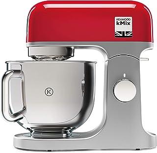 Kenwood kMix KMX750RD - Robot de cocina multifunción, 1000 W, bol metálico de 5 L con asa, gancho para amasar, varillas, mezclado K, Aacero inoxidable, 6 velocidades, color rojo