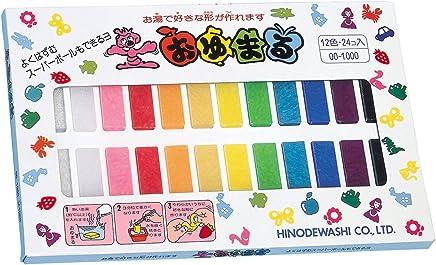 ヒノデワシ プラスチックねんど おゆまる1000 12色 OO-1000 24個入