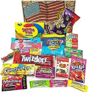 comprar comparacion Heavenly Sweets Cesta de Golosinas Vegetarianas Americanos - Selección de Golosinas y Chocolates de EE.UU. - Regalo de Nav...