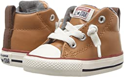 Converse Kids - Chuck Taylor All Star Street Leather and Fleece Mid (Infant/Toddler)