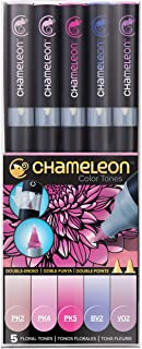 Chameleon Art Products, Coloring Book, Blends Multiple Tones, Floral Tones - 1 Pack of 5