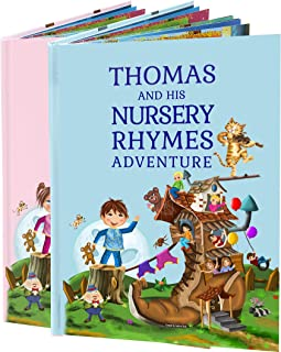 Personalized Children's Book of Nursery Rhymes - A Beautiful Boys and Girls Keepsake Gift for Birthdays or Christenings