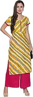 OOMPH! Women's Cotton a-line Salwar Suit Set