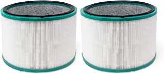 Fette Filter HEPA Filter Compatible with Dyson HP01, HP02, DP01 Desk Purifiers. Compare to Part # 968125-03 - Compatible with Dyson Pure Hot Cool Link Air Purifier Filter Replacement. Pack of 2