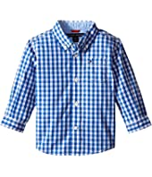 Tommy Hilfiger Kids - Baxter Long Sleeve Yarn-Dye Poplin Woven Shirt (Infant)