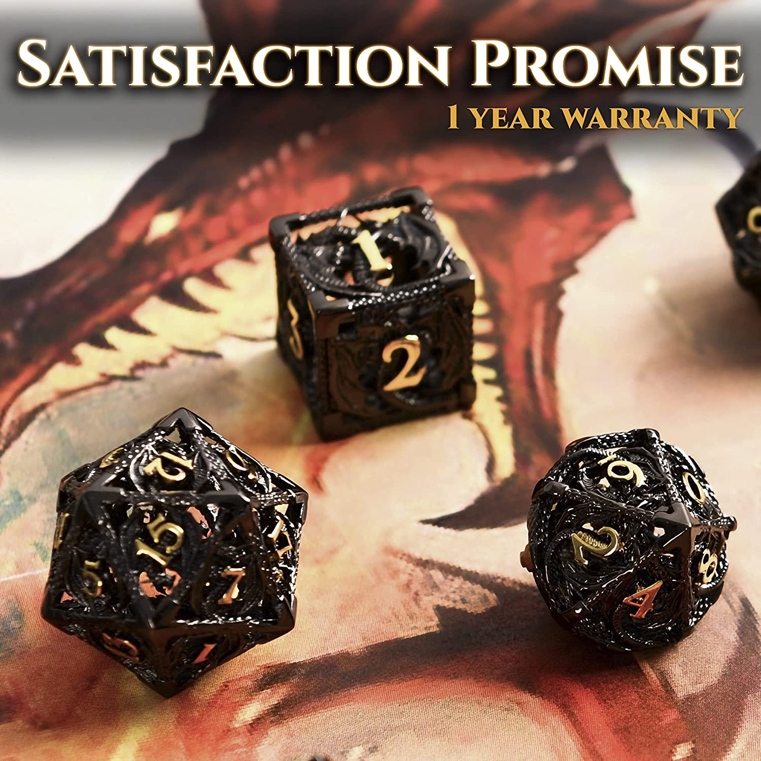 Very Detailed Dungeons and Dragons Dice Set - Beautiful Polyhedral ...
