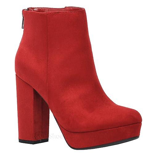 7756f8859bf3 MVE Shoes Womens Stylish Design Almond Toe Comfortable Heeled Boot
