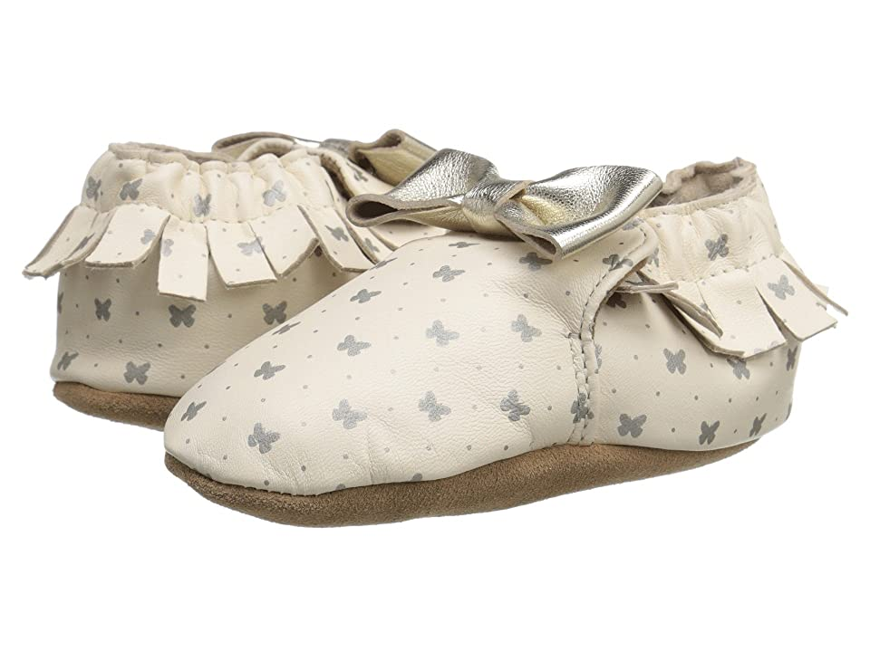 Robeez Premium Leather Maggie Moccasin Soft Sole (Infant/Toddler) (Gold Butterfly) Girls Shoes