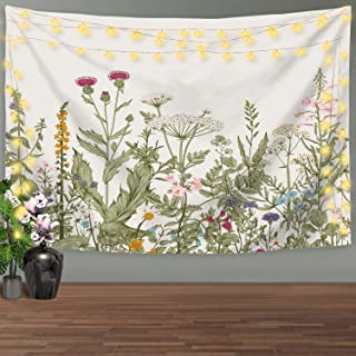 Nidoul Nature Wall Tapestry|Colorful Floral Plants Tapestry Wall Hanging|Wild Flowers Herbs Tapestry|Wall Art Decoration for Bedroom Living Room Dorm, 82