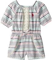 Yarn-Dye Stripe Romper (Big Kids)