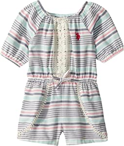Yarn-Dye Stripe Romper (Big Kids)
