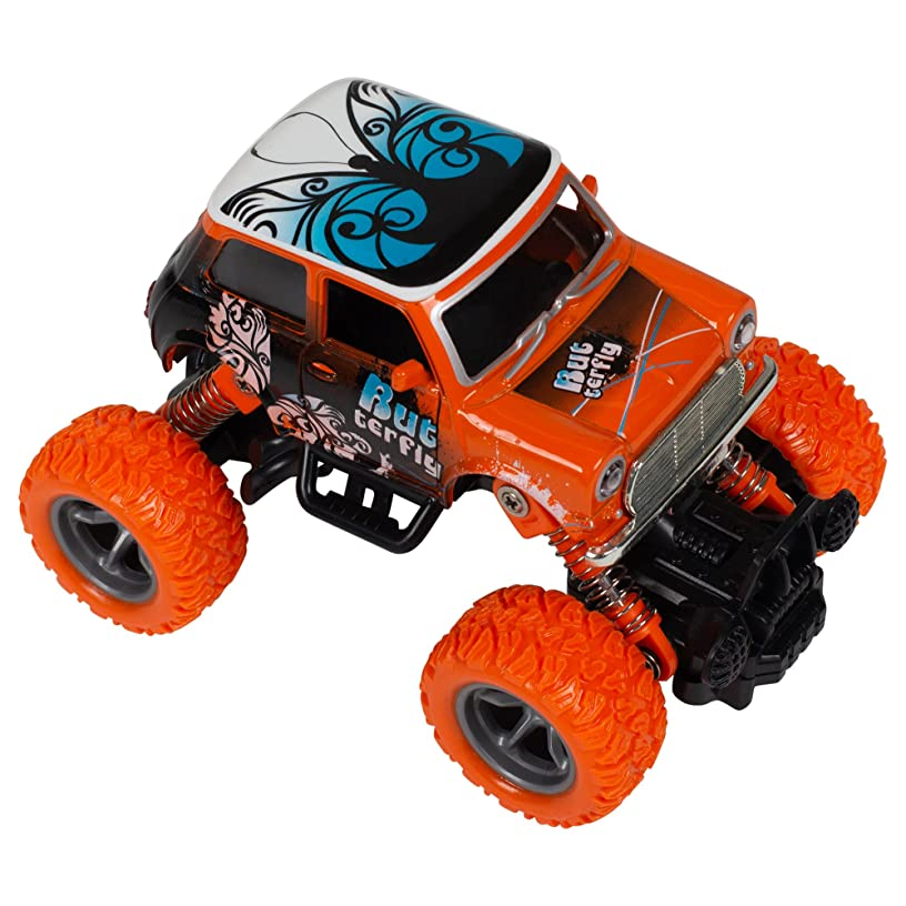 Butterfly Bug Beatle 4WD 4x4 M Plus Plastic 3.5 x 5.5 Inch Monster Rally Car Toy
