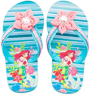 104e033ee Disney The Little Mermaid Ariel and Flounder Flip Flops for Girls