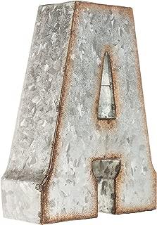 Galvanized Metal 3D Letter A