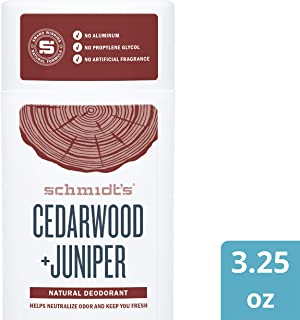 Schmidt's Deodorant For Odor Protection Cedarwood + Juniper Free of Aluminum Salts 3.25 oz