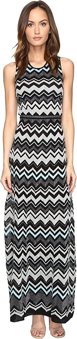 Lurex Zigzag Maxi Dress