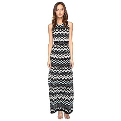 M Missoni Lurex Zigzag Maxi Dress (Black) Women