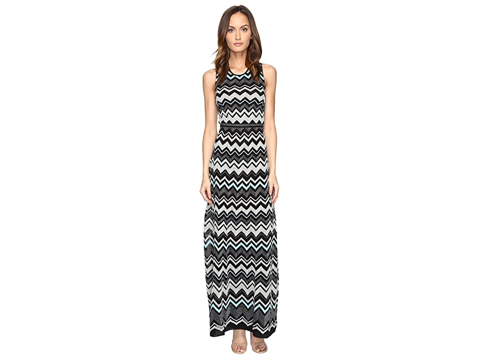 6a1c444948204e M Missoni Lurex Zigzag Maxi Dress (Black) Women