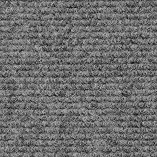 House, Home and More Indoor Outdoor Carpet with Rubber Marine Backing - Gray - 6 Feet x 15 Feet