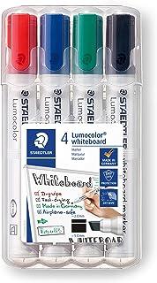 Staedtler 351 B WP4ST Lumocolor Marker Do Tablic Suchościeralnych, Zestaw 4 Sztuk, Wielokolorowy