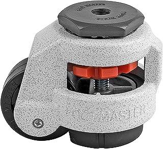 "FOOTMASTER GD-60S-1/2 Nylon Wheel en NBR Pad Leveling Caster, 550 lbs, Stem Gemonteerd met 0.5"" Montage Gat Diameter, Ivoo..."