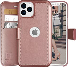 LUPA iPhone 11 Wallet Case -Slim iPhone 11 Flip Case with Credit Card Holder, for Women & Men, Faux Leather i Phone 11 Purse Cases with Magnetic Closure, Rose Gold